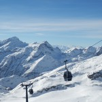 Pila ski resort in the Alps