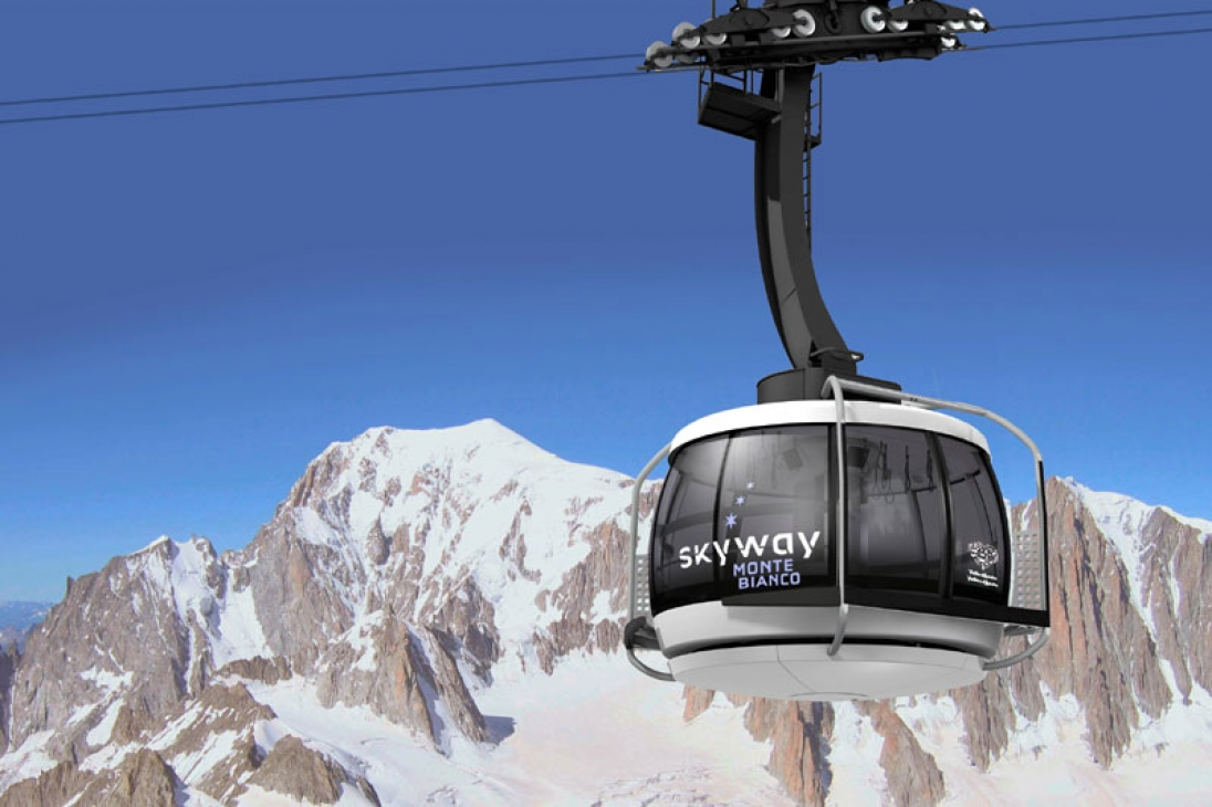Skyway cablecar Alps