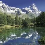 Blu lake Valtournenche