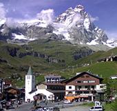 Landscape of Cervinia with Matterhorn