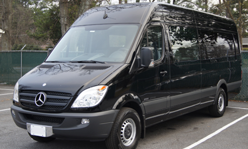 Mercedes Sprinter used for Transfers to Breuil-Cervinia