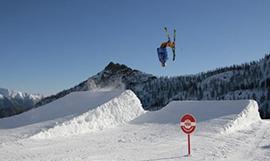 Freestyle ski at Monterosa