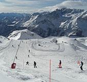 Pista da sci in località Valtournenche