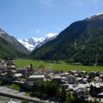 Cogne small town in the mountains