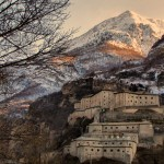 Fortress of Bard in the Alps