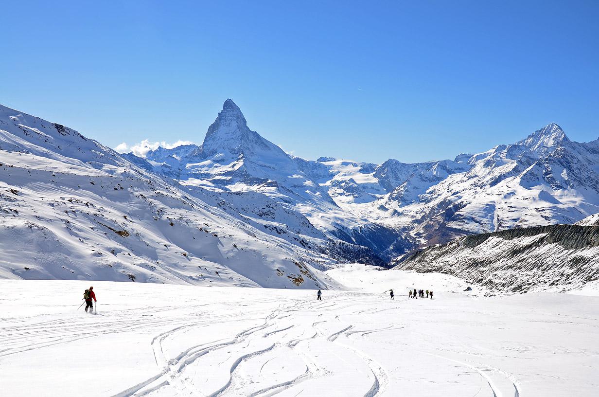 Monte Rosa a ski resort in the Alps