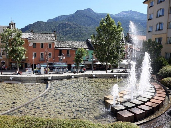 Saint Vincent fountains in the mountains