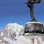 Skyway cablecar Alps