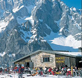 Courmayeur city in Aosta Valley