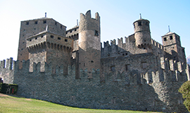 Fénis Castle in Aosta Valley