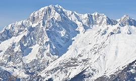 Il monte bianco innevato